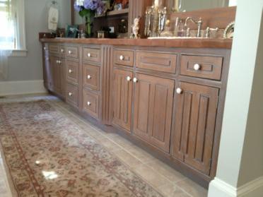refinishing pickled oak cabinets